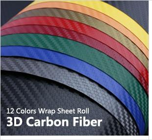 3d Carbon Fiber Vinyl Car Wrap Sheet Film Decals For Car