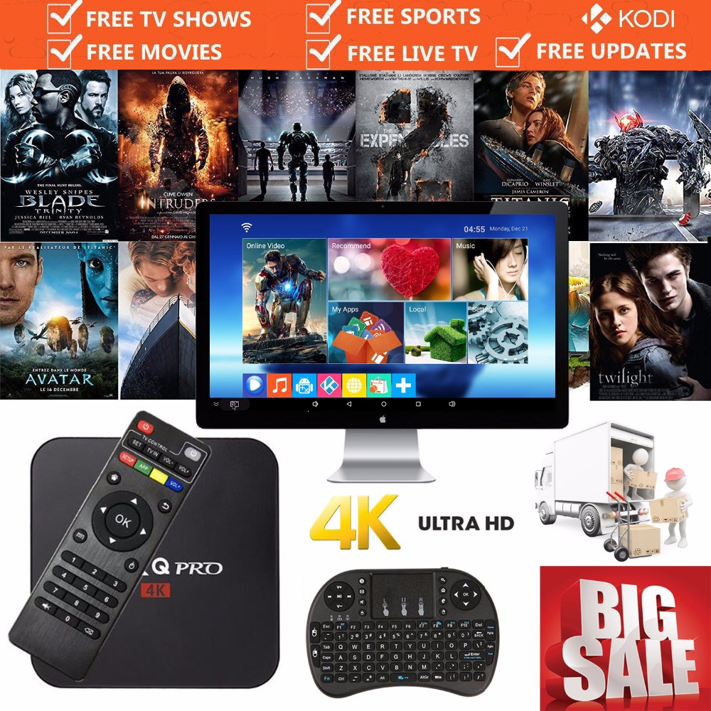 MX Pro Smart Android TV Box 6 0 1G/8G 4K Fully Loaded With Keyboard